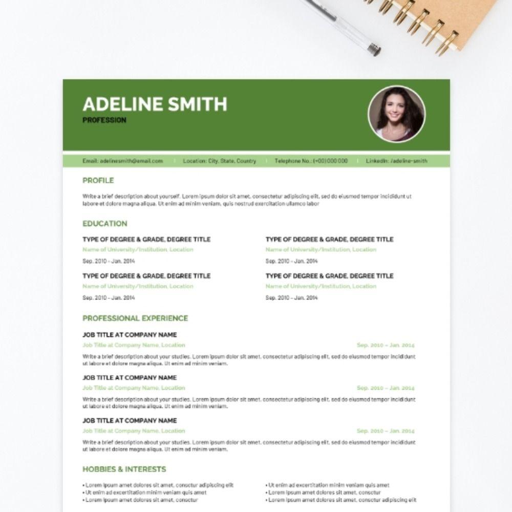Pine CV Template Cv template student, Cv template, Templates