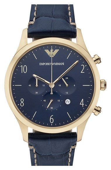 Emporio Armani Chronograph Watch, 43mm available at #Nordstrom