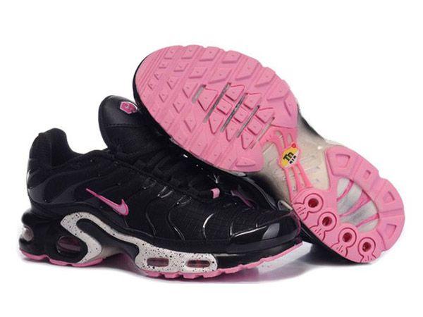 newest bdd93 8b0b5 Chaussures de Nike Air Max Tn Requin Femme Noir et Rose Baskets Tn Pas Cher