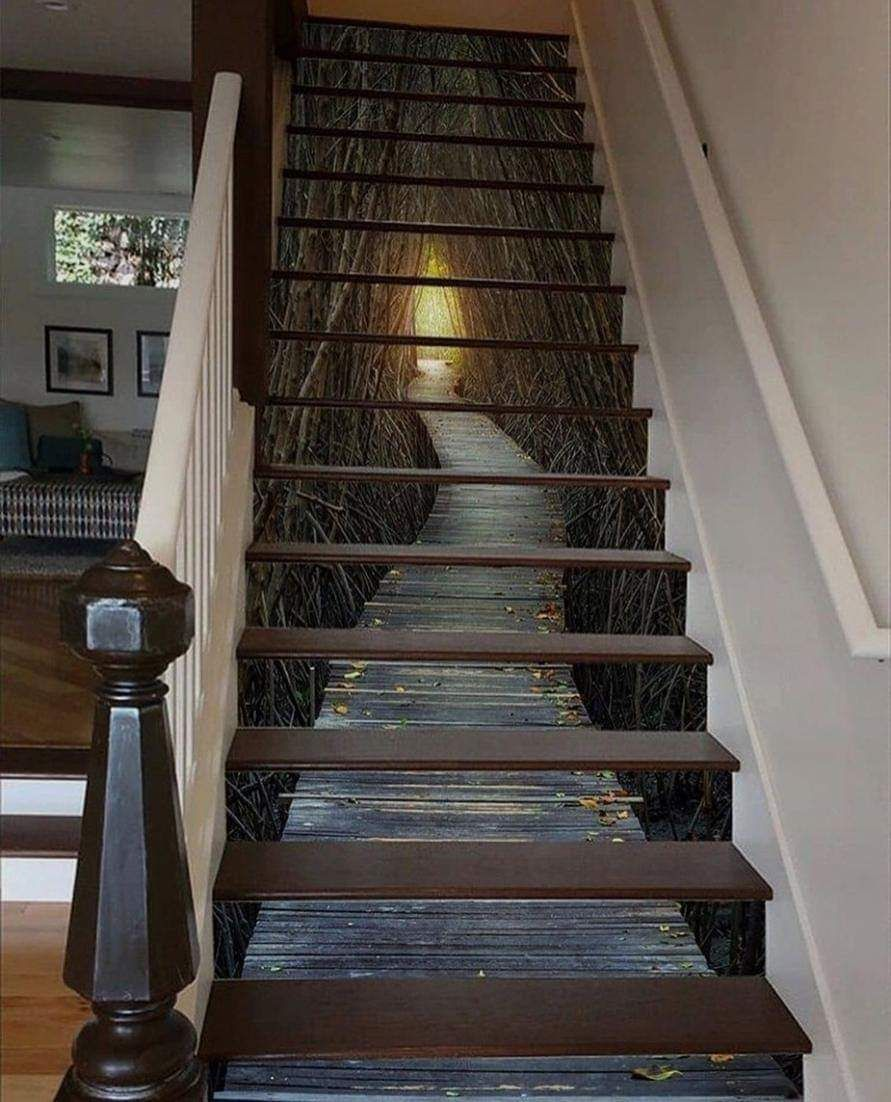 26 Incredible Under The Stairs Utilization Ideas: Amazing Staircase Mural In 2020