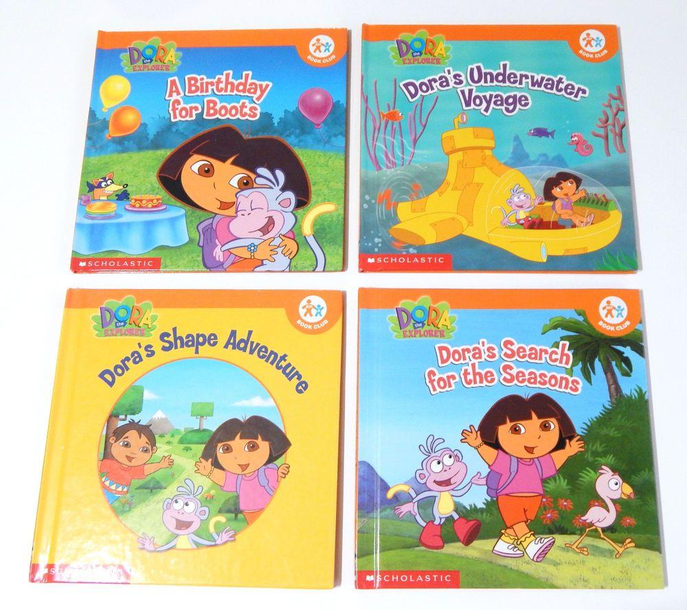 Lot Of 4 Nick Jr Dora The Explorer Hardcover Books By Scholastic Books New Scholastic Book Hardcover Book New Books