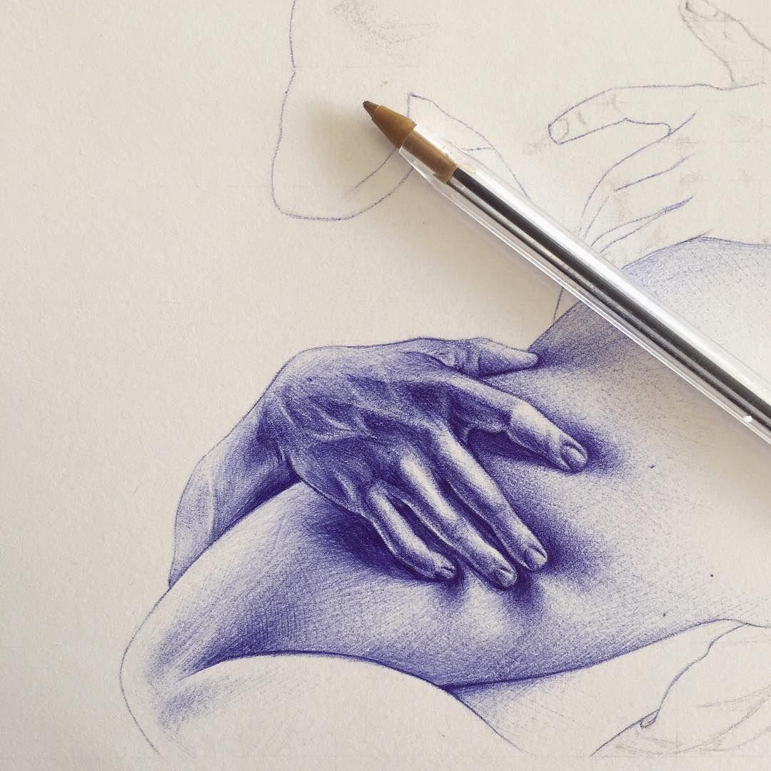 8 162 Likes 163 Comments Leirebeart On Instagram Skin Ballpoint Pen Art Ballpoint Pen Drawing Pen Art