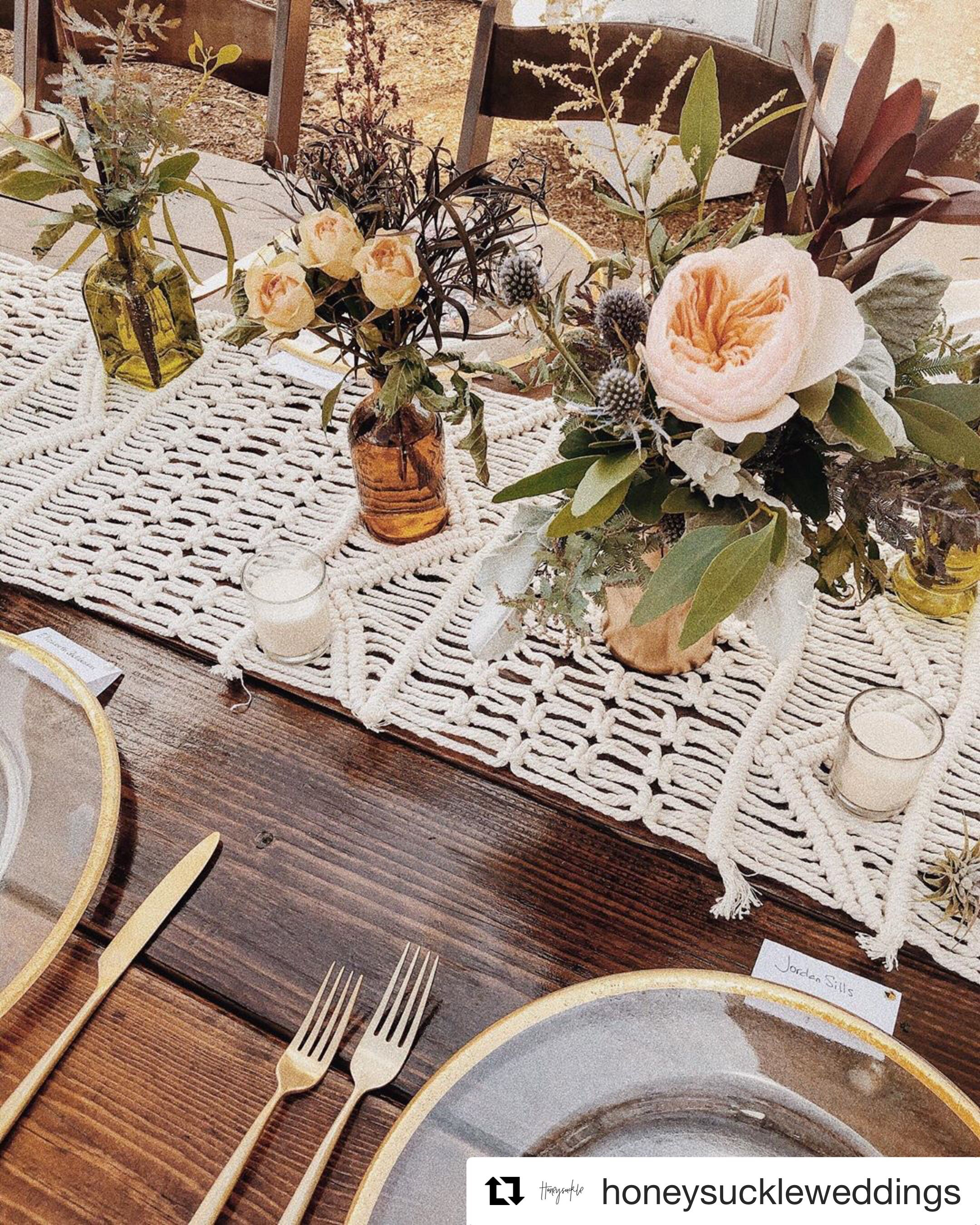 we loved this boho chic wedding design our gold rimmed chargers and brushed gold flatware on boho chic kitchen table decor id=43447