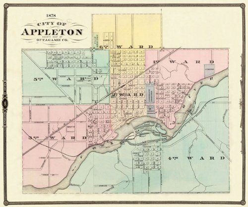 Historic City Maps APPLETON WISCONSIN (WI/OUTAGAMIE