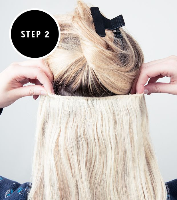 How To Apply Clip In Hair Extensions Hair Pinterest Hair