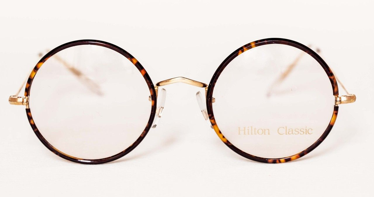 the old glasses shop vintage hilton classic true round glasses 14kt rolled gold round glasses