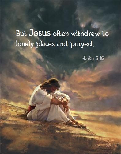 Image result for jesus lonely places