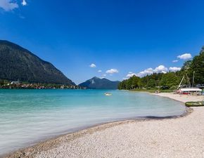 Photo of Camping Pangerl at the Walchensee in Upper Bavaria. Idyllic campsite right on …