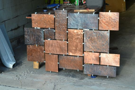Hammered Copper Wall Art By Fabitecture On Etsy