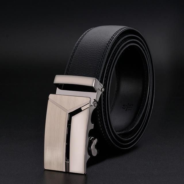 New Designer Mens Belt Luxury Leather Belt With Metal