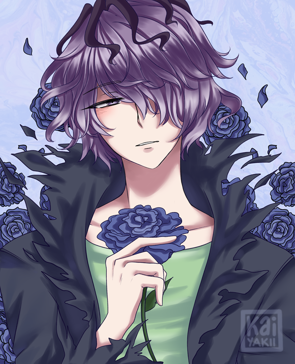 Garry By Kaiyakii On Deviantart Purple Haired Anime Characters Anime Purple Hair Anime Art Beautiful