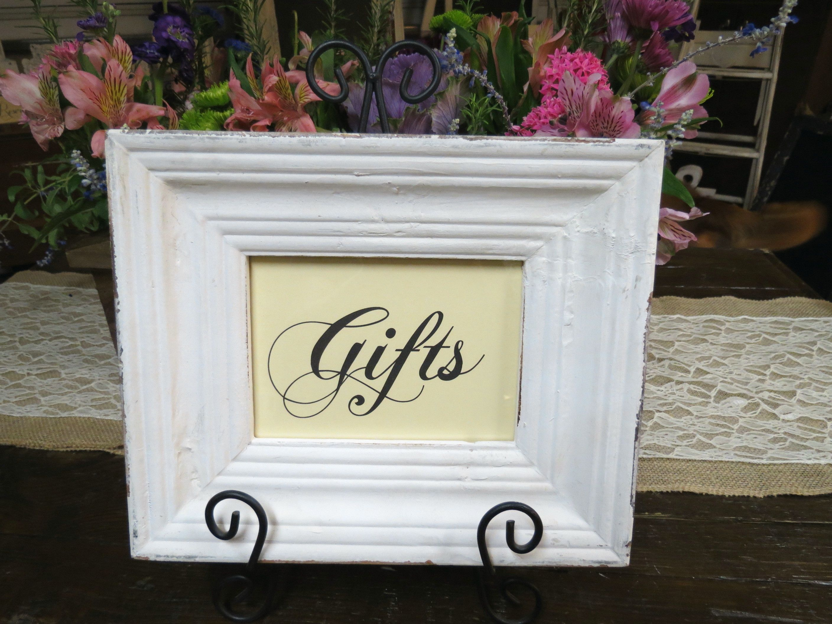 Shabby Chic Wedding Gifts Table Sign By Its Personal Wedding