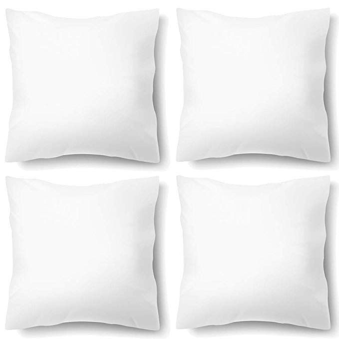 Fantastic Hippih 4 Pack Decorative Pillow Inserts 18 X 18 Inch Inzonedesignstudio Interior Chair Design Inzonedesignstudiocom