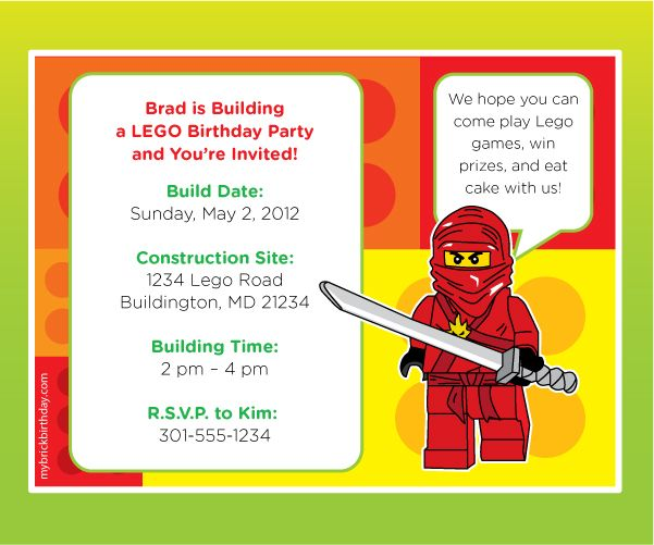 ninjago evite lego 10 for personalized birthday invitation kids – Ninjago Party Invitations