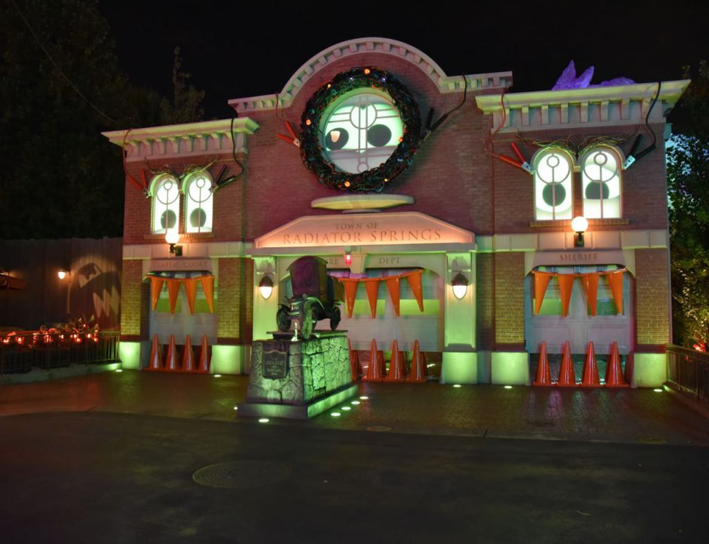the old courthouse at disney california adventure halloween time
