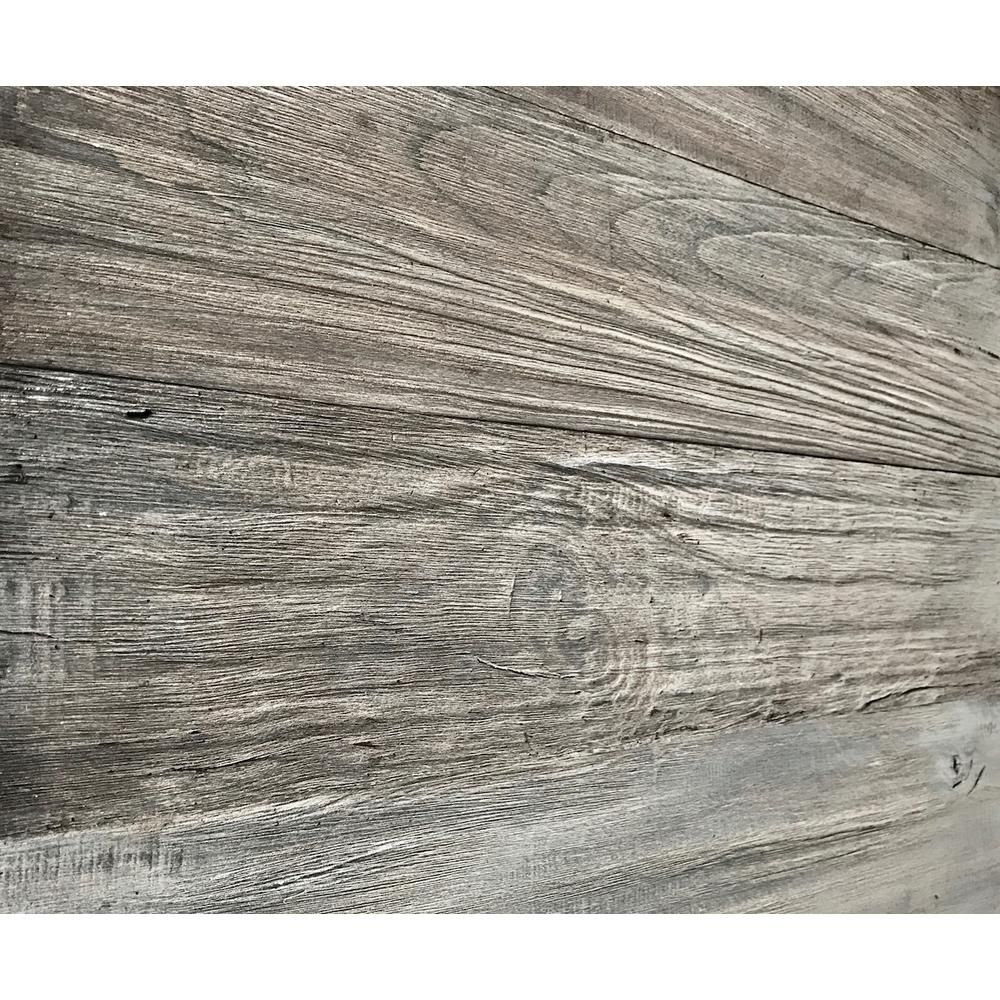 Barn Wood 1 4 In X 24 Reclaimed Decorative Wall Planks Gray Color 10 Sq Ft Case