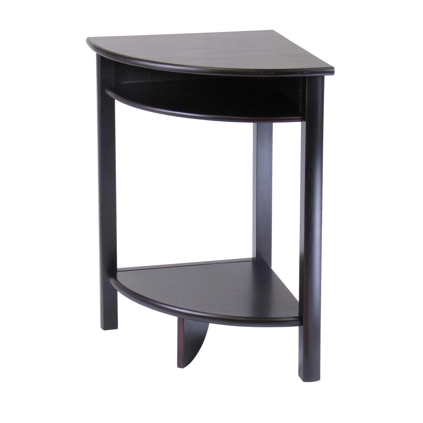 Awsemone Minimalist Corner Accent Table For Dining Room With Curve Design
