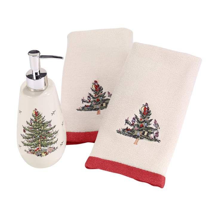 Avanti 3-piece Spode Tree Fingertip Towel  Soap Pump Set in 2018