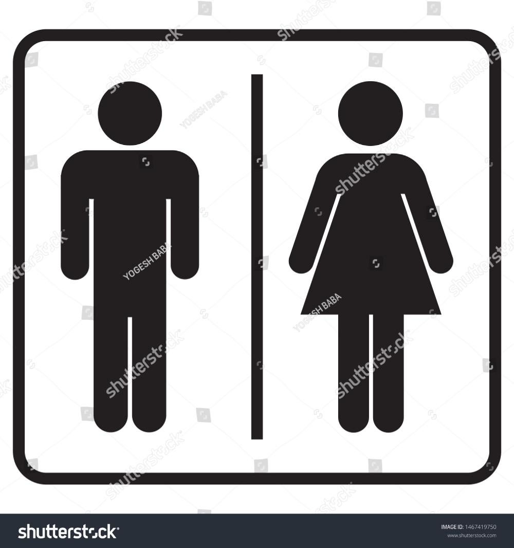 Male Female Restrooms Bathroom Icon Stock Illustration 1467419750 Stock Illustration Illustration Male