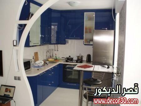ديكورات مطابخ راقية وعصرية Living Room Partition Design Room Partition Designs Kitchen Interior Design Decor