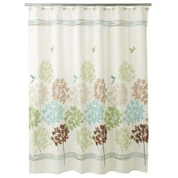 3599 Kohls Peri Garden Pond Fabric Shower Curtain Not Sure About The Hummingbirds Though