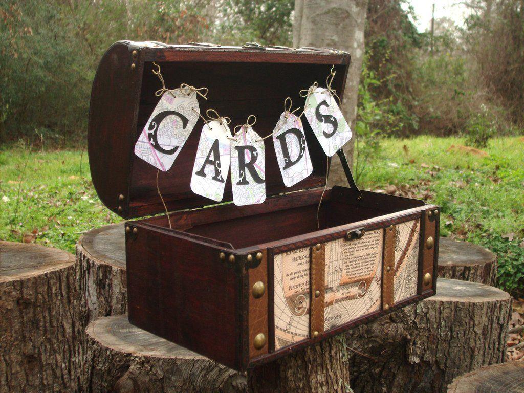 Treasure Trunk Wedding Card Box