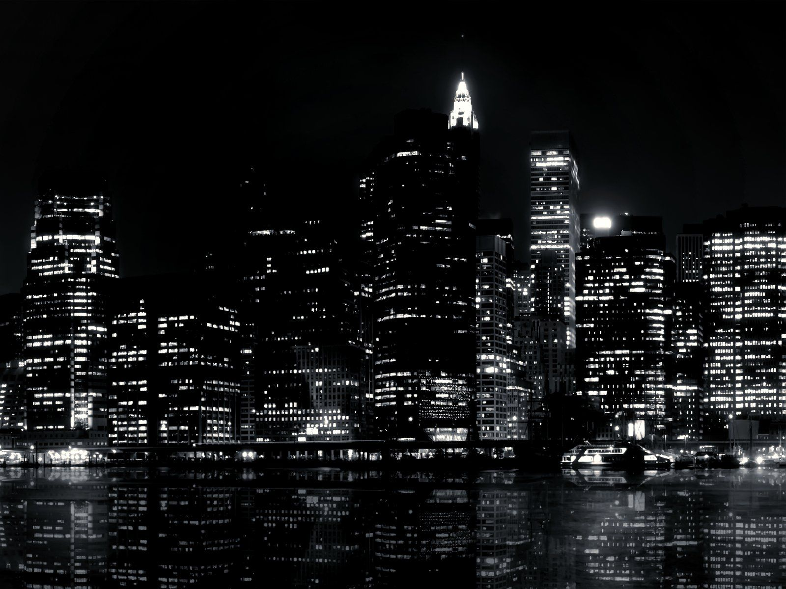 Blackandwhitewallpaperpng Black White Pinterest - City lights wallpaper for bedroom