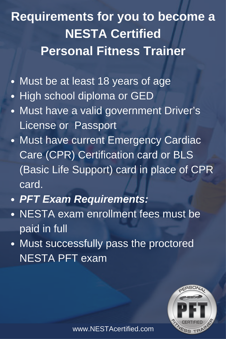 requirements personal trainer become fitness support certified before nesta basic training emergency