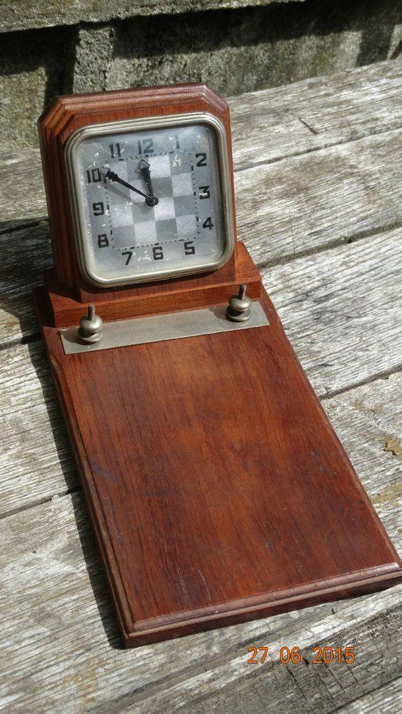 Pendulette de bureau pour carnet support bois modele ancien annees 40 ann es 40 bois et bureau - Bureau bois ancien ...