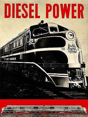 ART PRINT POSTER VINTAGE ADVERT TRAVEL TRAIN DIESEL POWER NOFL1455