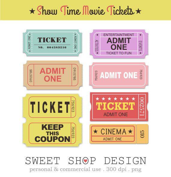Movie Clip Art Ticket Clip Art Royalty Free Clip Art Movie Night Instant Download Clip Art Movie Clipart Free Clip Art