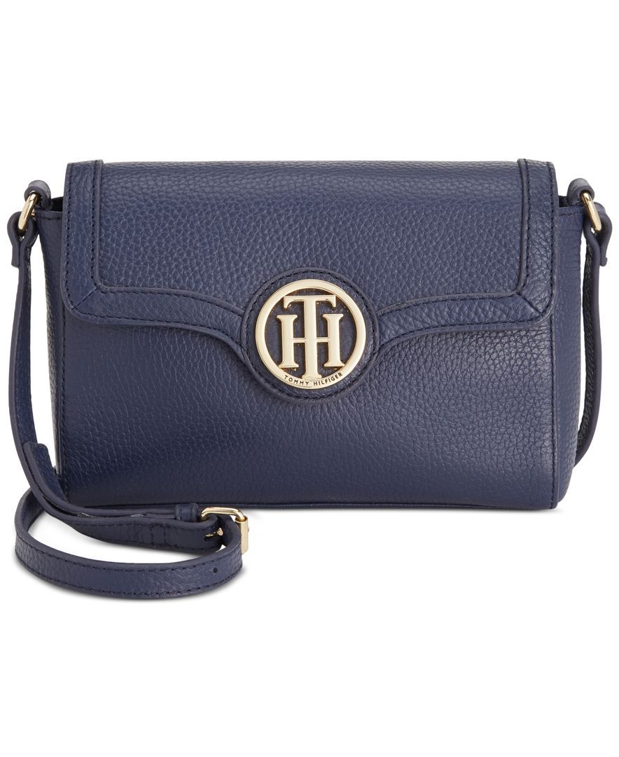 412933ae647 Tommy Hilfiger Maggie Pebble Leather Flap Crossbody | Tommy Hilfiger ...