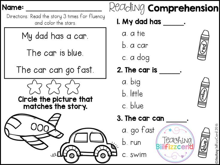 math worksheet : free reading comprehension for beginning readers multiple choice  : Free Kindergarten Reading Comprehension Worksheets