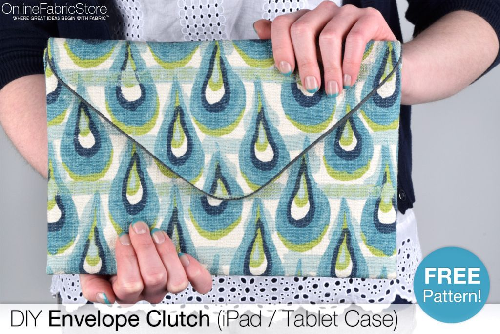 How To Make an Envelope Clutch (iPad / Tablet Case) | Rezept ...