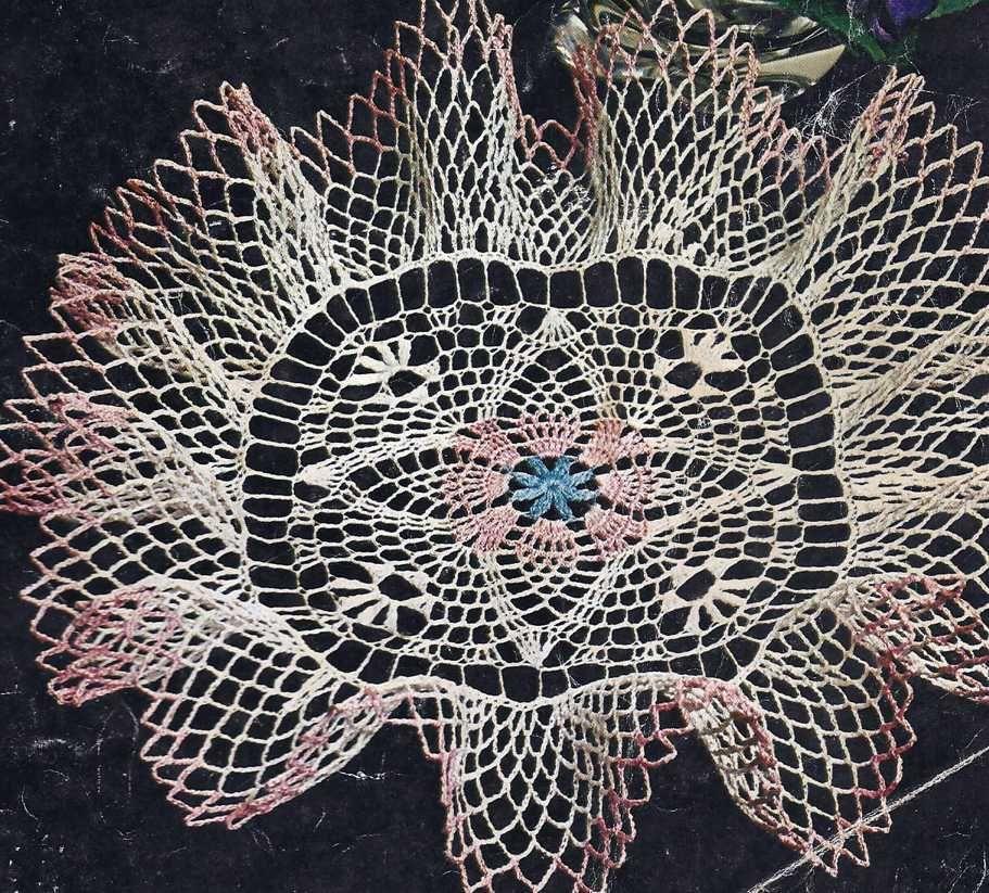 Patrón 990 Centro de Mesa con Volante a Crochet | amapola ...