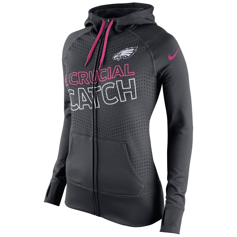 timeless design c3f71 8b7ee Women's Philadelphia Eagles Nike Charcoal Breast Cancer ...