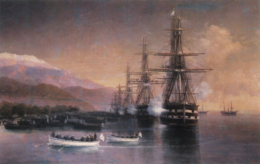 The landing to Subashi - Ivan Aivazovsky