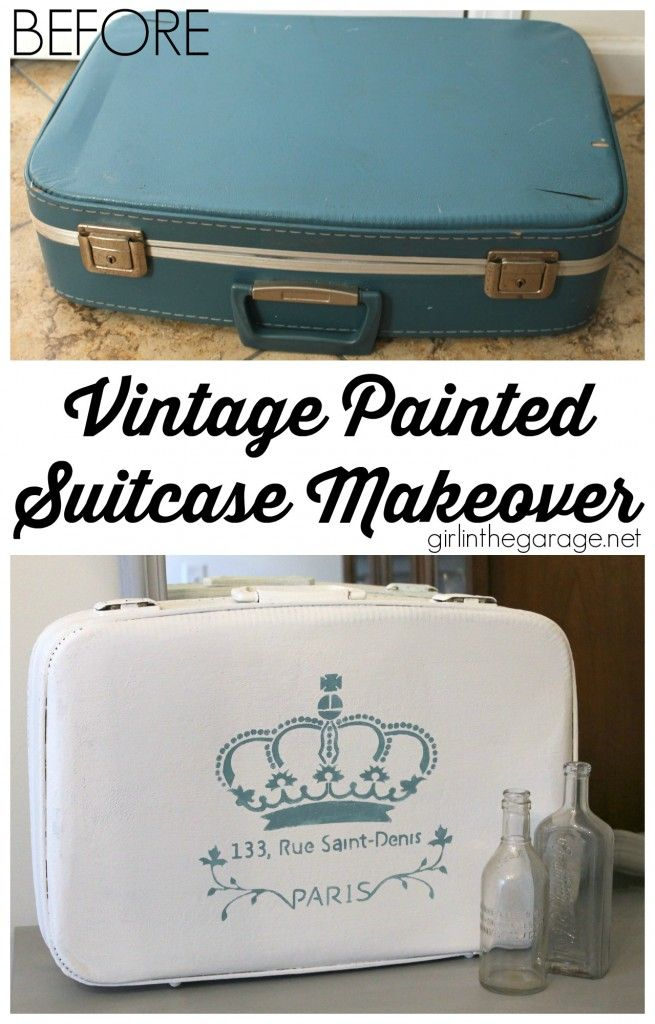 Vintage Suitcase Makeover - Decorative painting with Chalk Paint ...