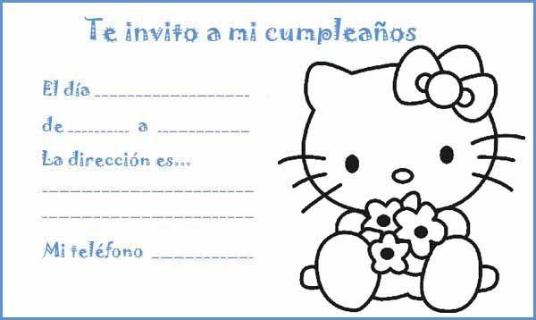Invitación de cumpleaños - Hello Kitty