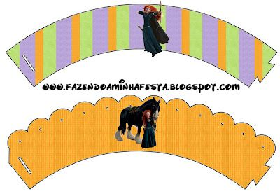 LARGE PRINTABLE SET- Valente (Brave – Disney) – Kit Completo com molduras para convites, rótulos para guloseimas, lembrancinhas e imagens! | Fazendo a Nossa Fest...