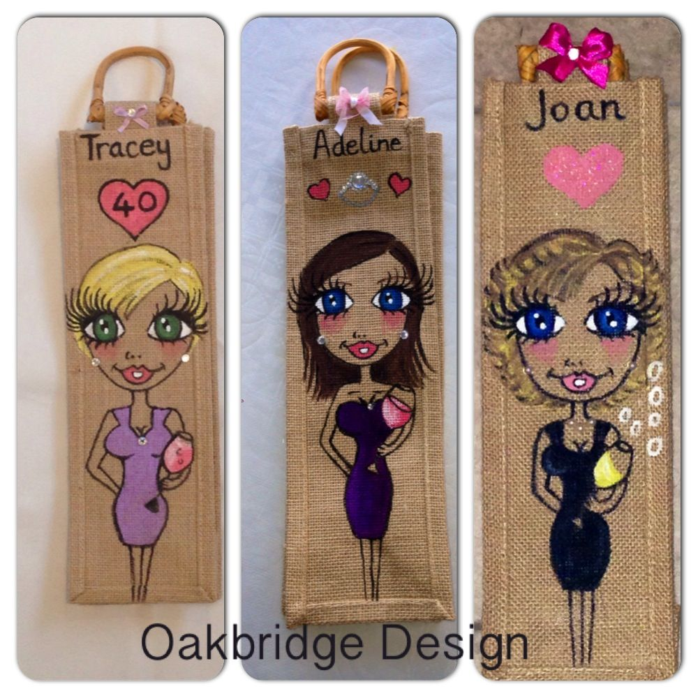 Bottle Bags - perfect for special birthdays £8 each at www.facebook.com/oakbridgedesignni