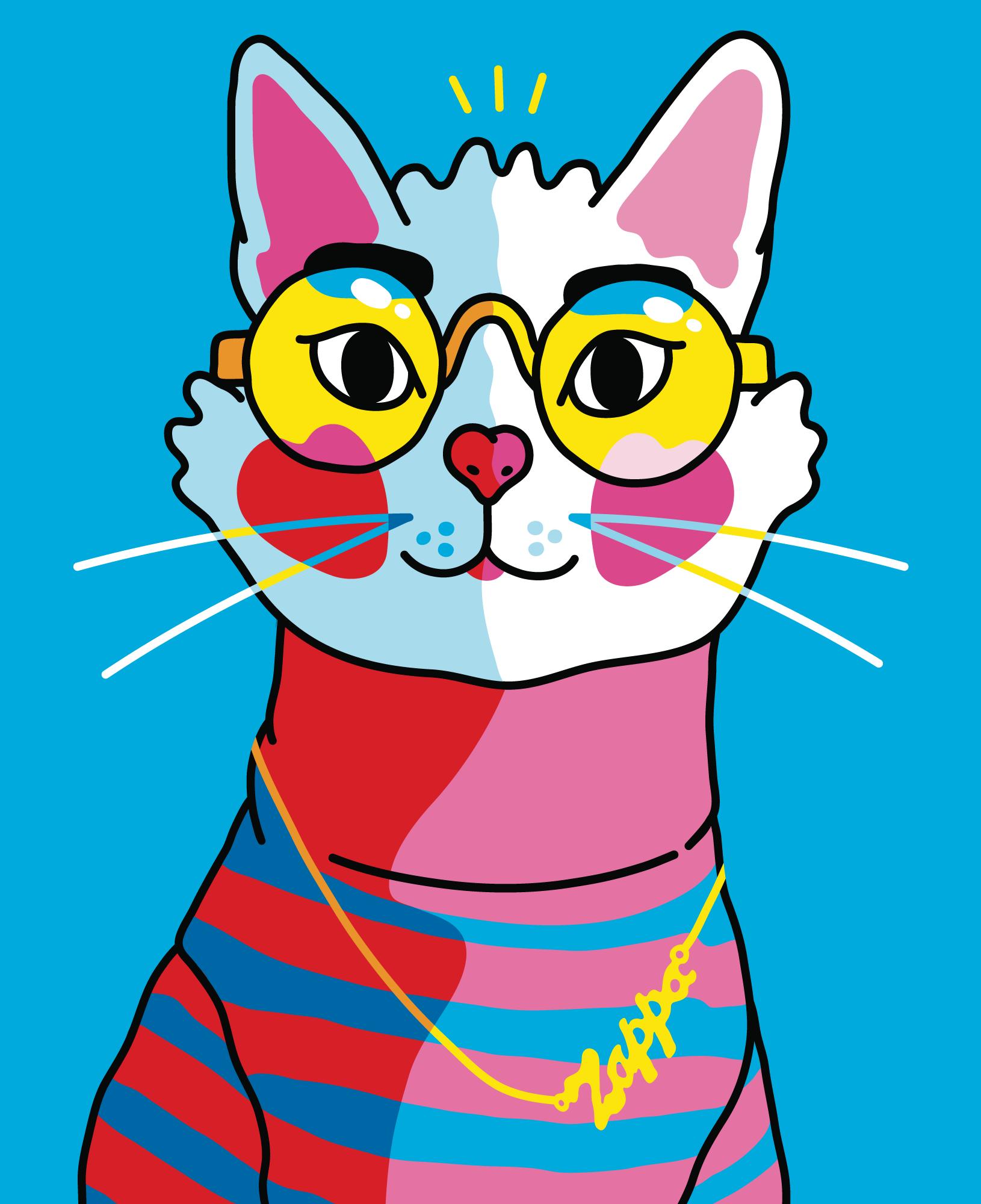 2018 • PERSONAL WORK 'Zappa' in 2020 Pop art cat