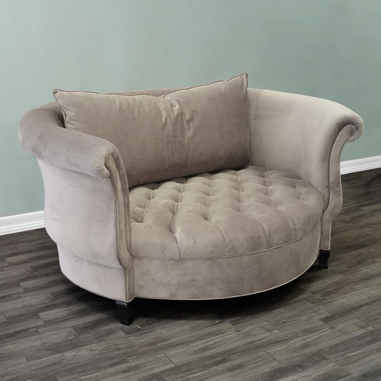 Cuddle Chair - Grey Velvet Glam Chair - HauteHouseHome.com : cuddle chaise - Sectionals, Sofas & Couches