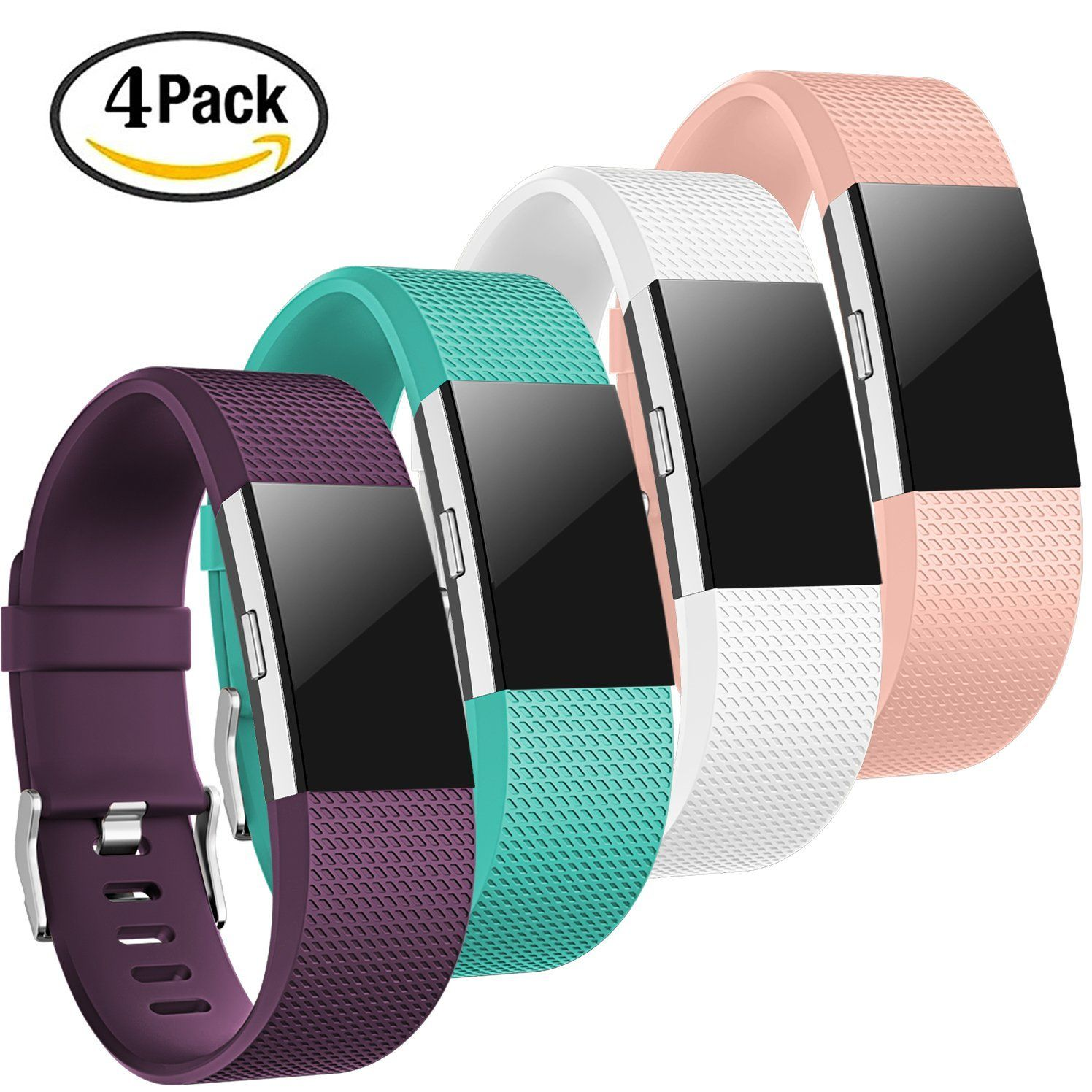 Amazon com : For Fitbit Charge 2 Bands, TreasureMax 4PCS