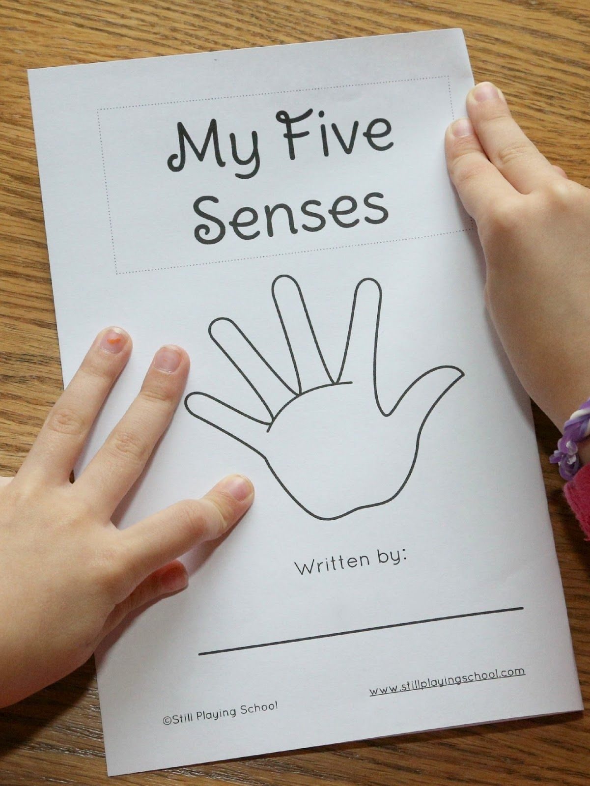 My Five Senses Book For Kids