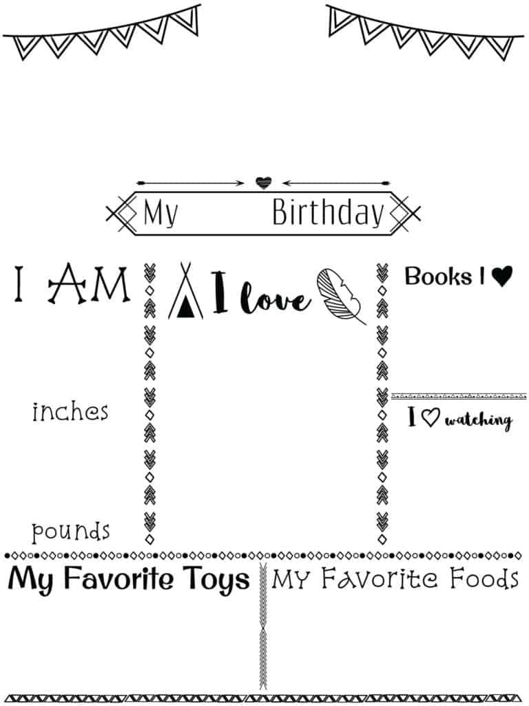 birthday poster template free with step