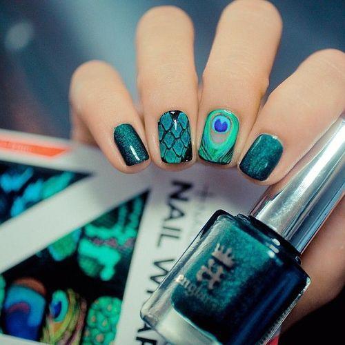 A nail art 2000 pins peacock nail art pinterest nail a nail art 2000 pins prinsesfo Choice Image