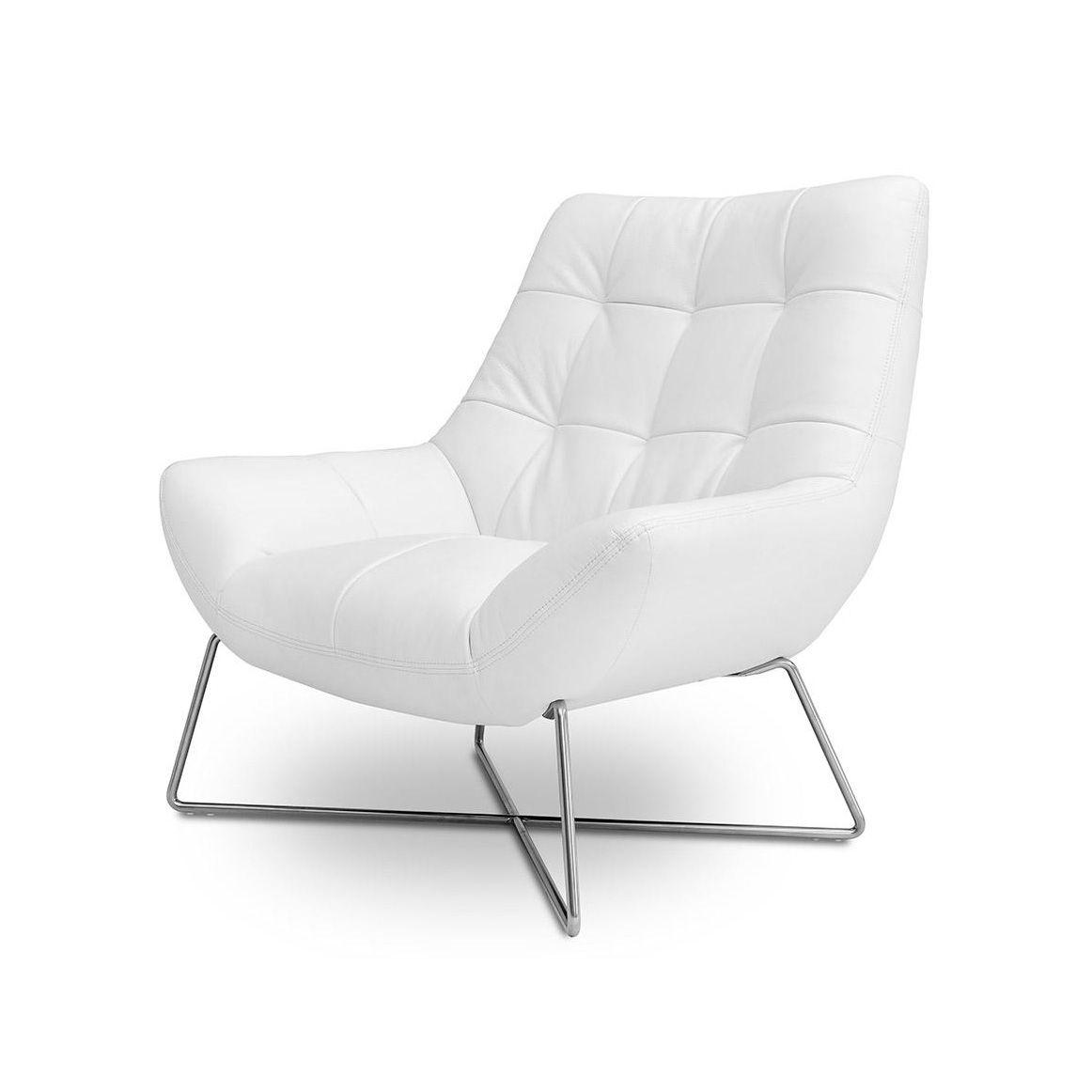 Xavier White Lounge Chair White Lounge Chair Modern White Chairs White Living Room Chairs