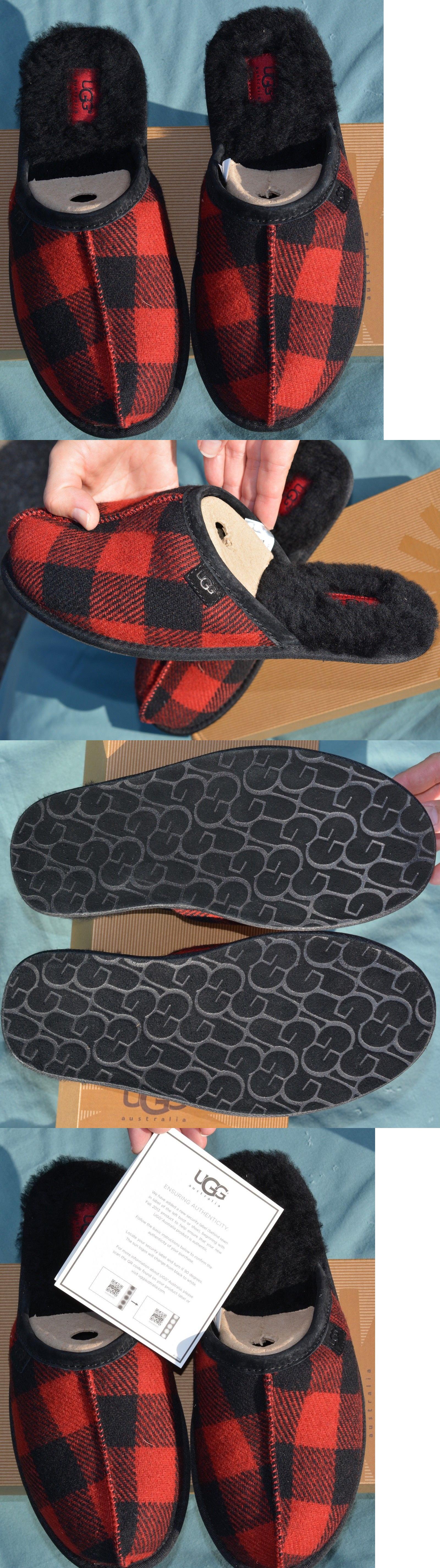 5922f03b121 Slippers 11505: New Ugg Australia Men Size 10 Us 43 Mens Scuff Plaid ...