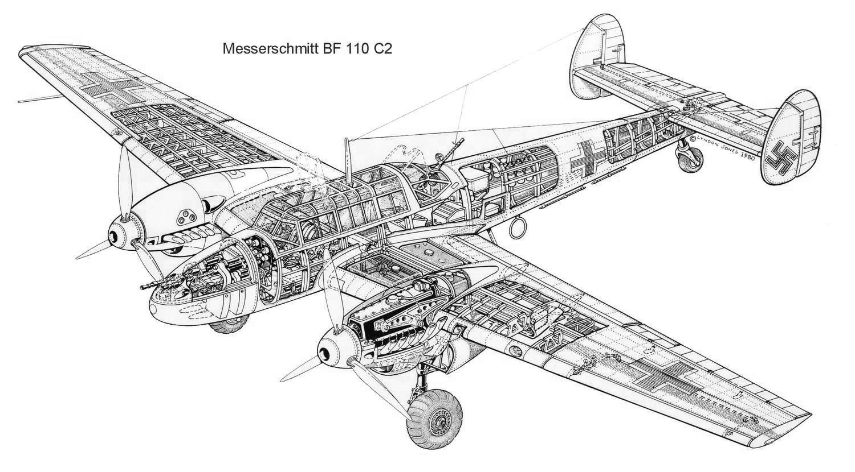Pin Od Ignacy Sk Adowski Na Messerschmitt Bf 110